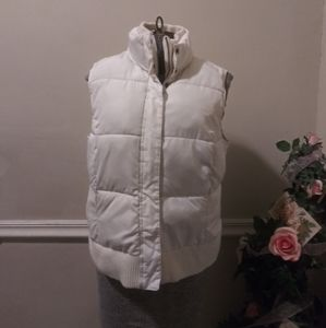 EUC Merona Cream Puffer Vest
